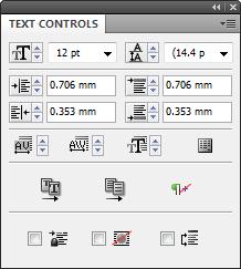 Text Controls panel