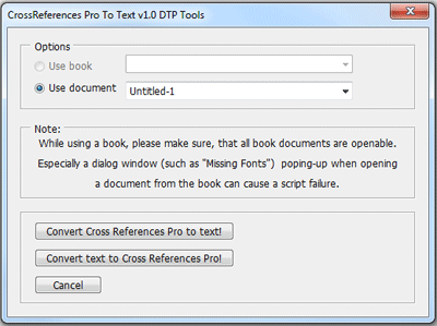 DTP Tools - Cross-References PRO for Adobe InDesign/InCopy